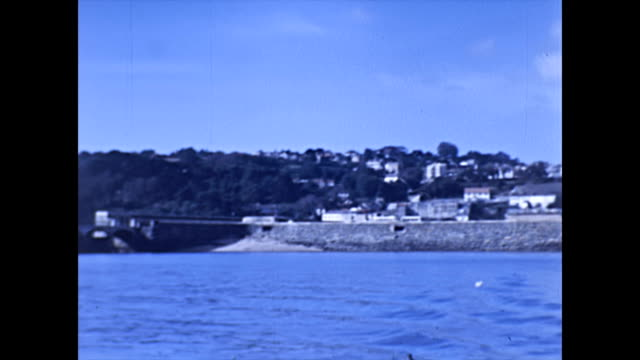 st peter port harbour guernsey - castle from the sea - guernsey stock-videos und b-roll-filmmaterial