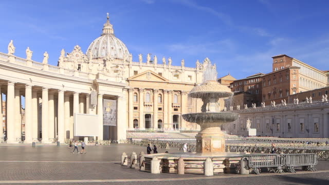 st peter's basilica in the vatican city. - basilica video stock e b–roll