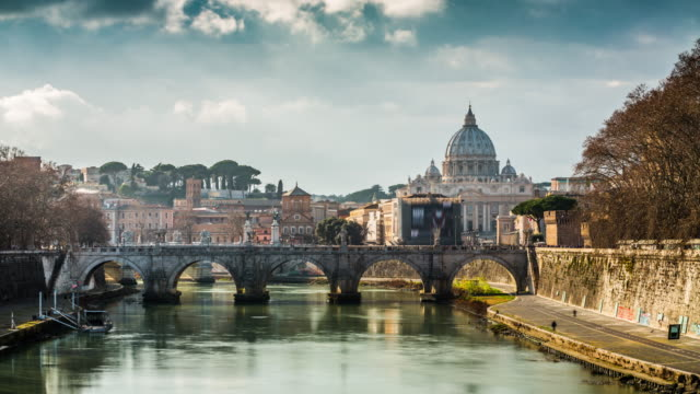 timelapse: st. peter's basilica, rome - 4k cityscapes, landscapes & establishers - rome italy stock videos & royalty-free footage