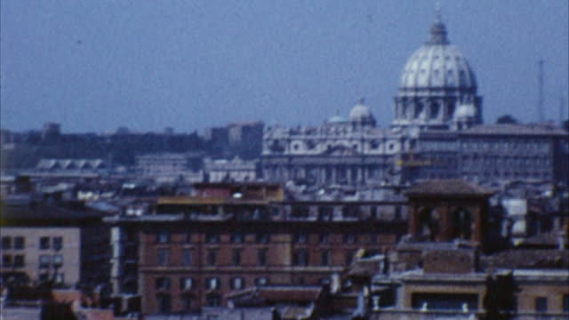 st. peter's basilica, rome, italy (archival 1960s) - 1965 stock videos & royalty-free footage