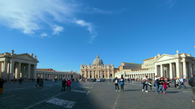 st. peters basilica & vatican city, st. peters square, rome, italy - petersplatz stock-videos und b-roll-filmmaterial