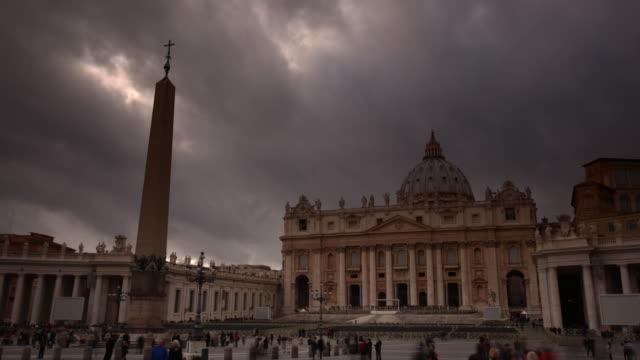 st peter's basilica, vatican city - cupola video stock e b–roll