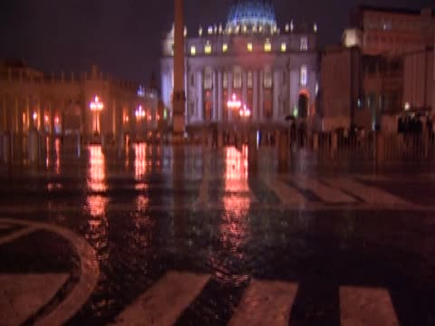 st peter's square at night vatican - st peter's square stock videos & royalty-free footage
