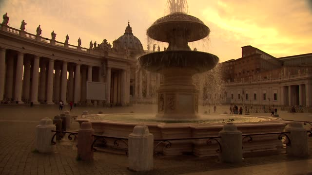 st. peter's square - fountain - st peter's square stock videos & royalty-free footage