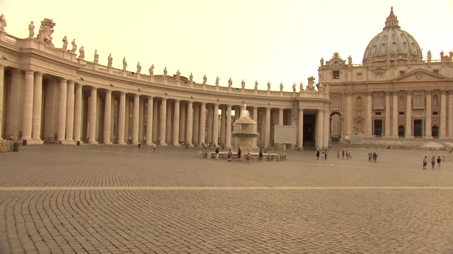 st. peter's square in vatican - st peter's square stock videos & royalty-free footage