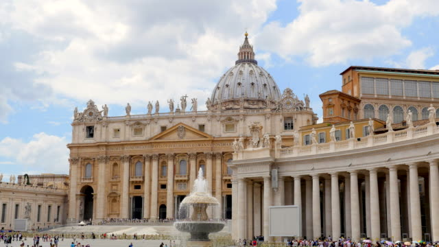 st. peter's square, vatican city. - st peter's square stock videos & royalty-free footage