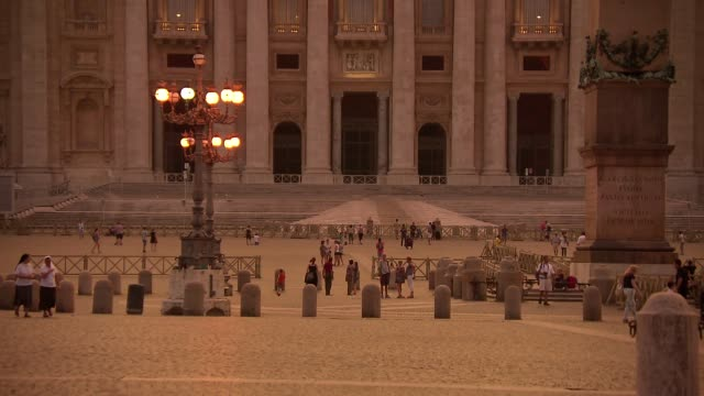 st. peter's square - obelisk stock videos & royalty-free footage
