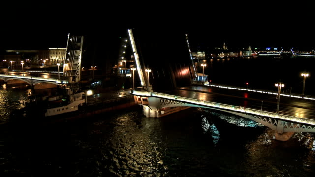 st petersburg bridge - swing bridge stock videos & royalty-free footage