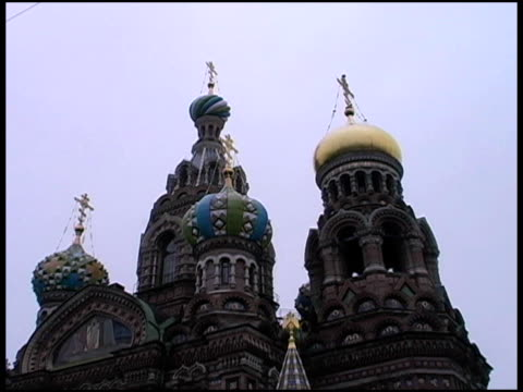 st. petersburg, russia: church of savior on the spilled blood - resurrection religion stock videos & royalty-free footage