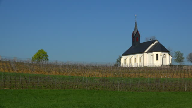 st. roch's chapel, nittel, moselle valley, germany - chapel stock videos & royalty-free footage