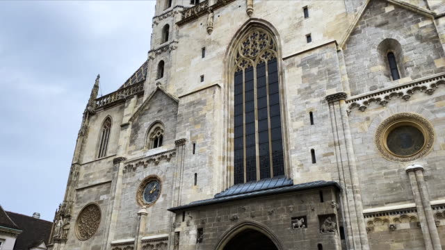 st. stephen's cathedral vienna - gothic style stock videos & royalty-free footage