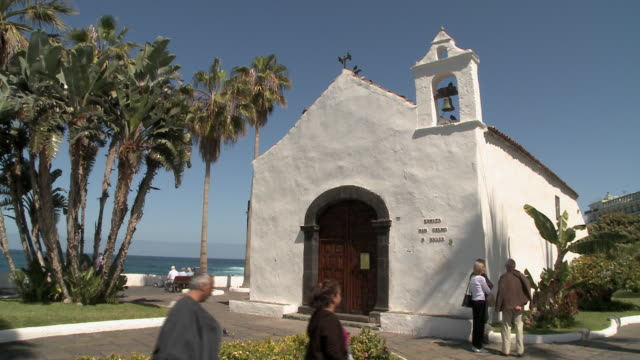 st. telmo chapel, puerto de la cruz, tenerife, spain, - san telmo stock videos & royalty-free footage