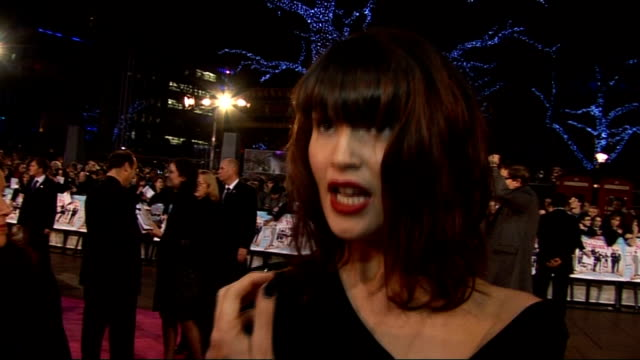 'st trinian's 2 the legend of fritton's gold' film premiere in london red carpet interviews gemma arterton interview sot on making the film couldn't... - bond girl fictional character stock videos & royalty-free footage