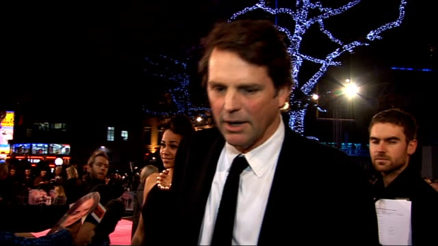 stockvideo's en b-roll-footage met 'st trinian's 2 the legend of fritton's gold' film premiere in london red carpet interviews general views barnaby thompson red carpet interview sot... - rupert everett