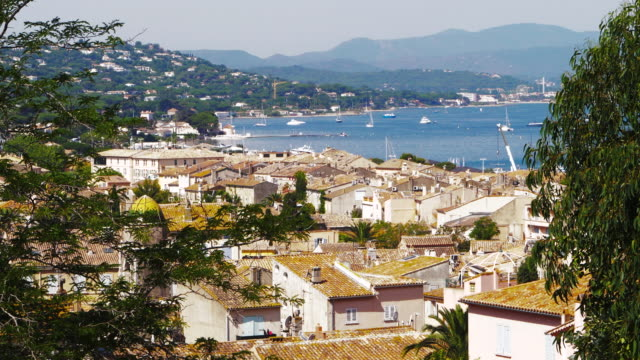 st tropez old town aerial view - celebrity sightings stock videos & royalty-free footage