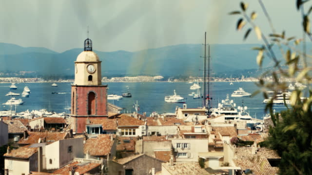 st tropez old town aerial view - var stock videos & royalty-free footage