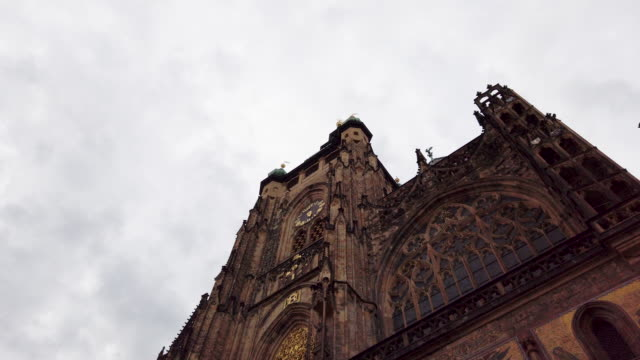 st. vitus cathedral in prague in czech republic - traditionally czech stock videos & royalty-free footage