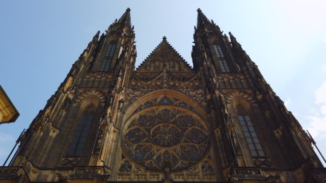 st vitus cathedral in prague - bohemia czech republic stock videos & royalty-free footage