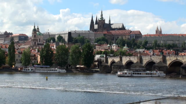 st. vitus cathedral - prague, czech republic - charles bridge stock videos and b-roll footage
