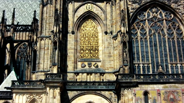 st. vitus cathedral, prague (hd) - hradcany castle stock videos and b-roll footage