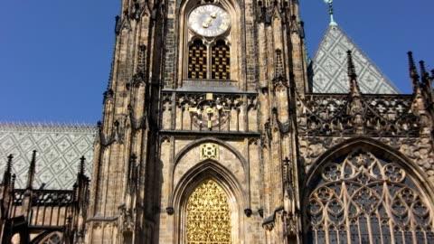 聖ヴィトゥス大聖堂、プラハ(hd - 聖ヴィート大聖堂点の映像素材/bロール