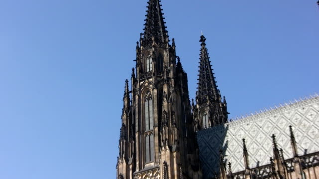 st. vitus cathedral, prague (hd) - mala strana stock videos and b-roll footage