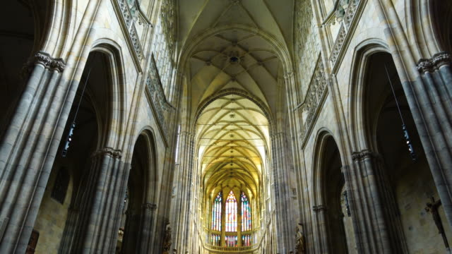 st. vitus cathedral - hradcany castle stock videos & royalty-free footage