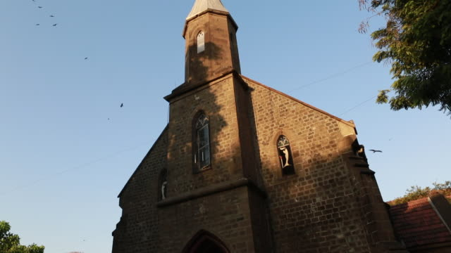 St Xavier's Church in Pune India where murals ofFresco of Angelo da Fonseca can be seen at the walls of the church