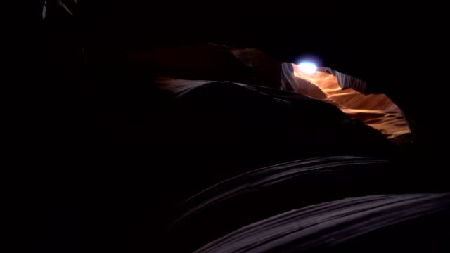 Stabilized shot .The Antelope Canyon.