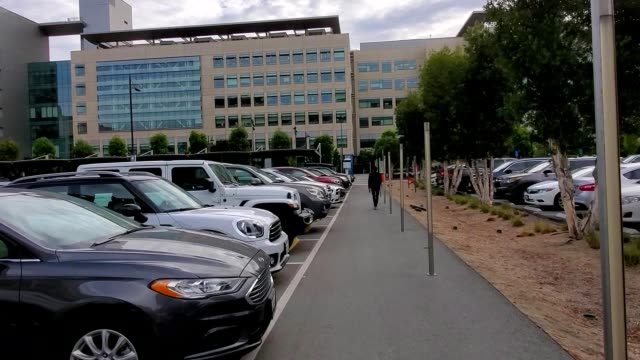 stabilized shot traveling towards the university of california san francisco medical center in mission bay san francisco california october 16 2019 - university of california stock videos and b-roll footage