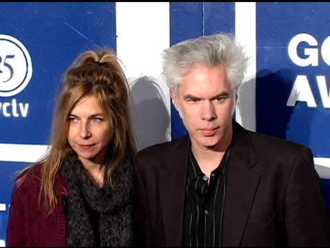 stacey smith and jim jarmusch at the ifp's 15th annual gotham awards arrivals at pier 60 at chelsea piers in new york new york on november 30 2005 - chelsea piers stock videos & royalty-free footage