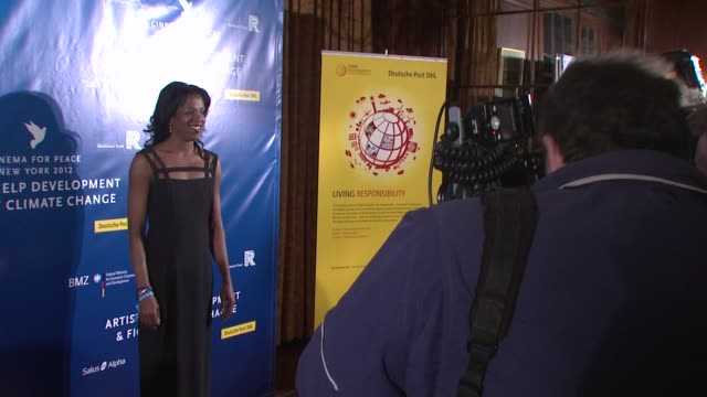 stacey tisdale at cinema for peace new york 2012 gala honoring sting, trudie styler & the rainforest fund with 'green oscar' at the harvard club on... - trudie styler stock-videos und b-roll-filmmaterial