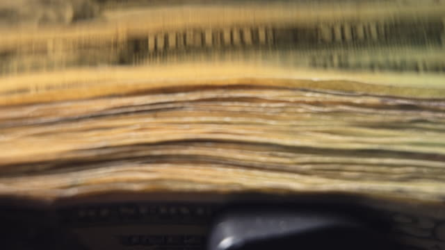 stack of $20 bills in money counting machine - twenty us dollar note stock videos & royalty-free footage