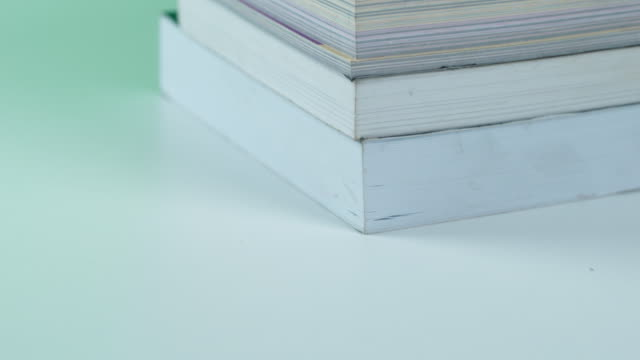 tu: stack of books - hardcover book stock videos and b-roll footage