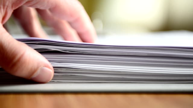 stack of forms - paperwork stock videos and b-roll footage