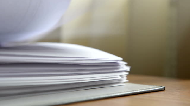 stack of forms - paperwork stock videos & royalty-free footage