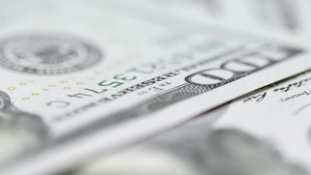 stack of us one hundred dollar bills - abundance stock videos & royalty-free footage