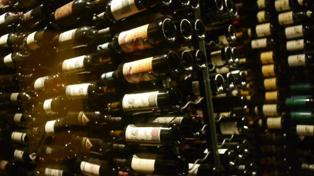stacked wine bottles with labels - wine bottle stock videos & royalty-free footage