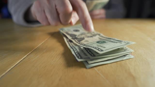 stacking 20 dollar bills - stacking stock videos & royalty-free footage