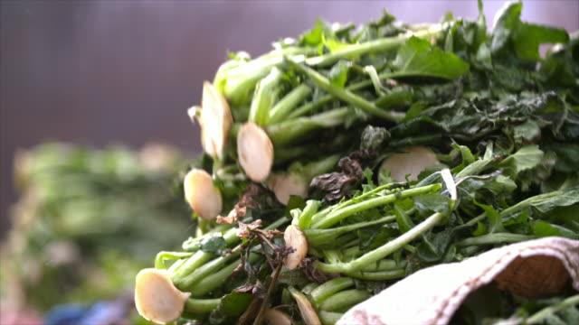 stacking radish greens - heap stock videos & royalty-free footage