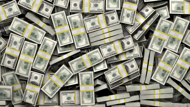 stacks of hundred-dollar bills fall into an enormous pile. - winnings stock videos and b-roll footage