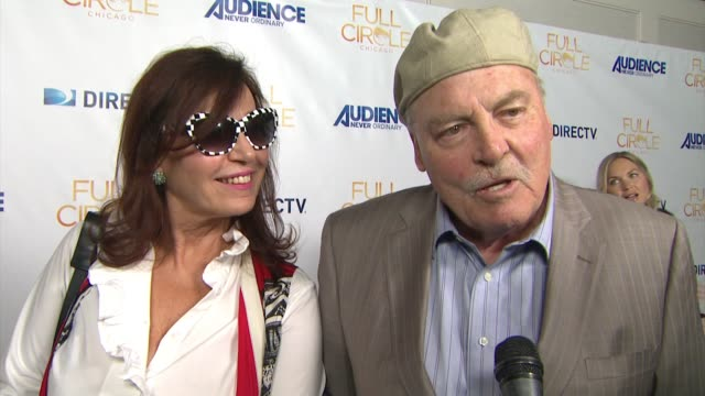 "vídeos y material grabado en eventos de stock de interview stacy keach on the event his character the show's premise at directv celebrates the season 2 premiere of ""full circle"" in los angeles ca - stacy keach"