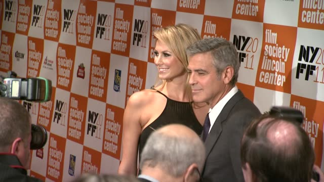Stacy Keibler and George Clooney at the 'The Descendants' 49th Annual New York Film Festival Press Conference and Closing Night Gala at New York NY