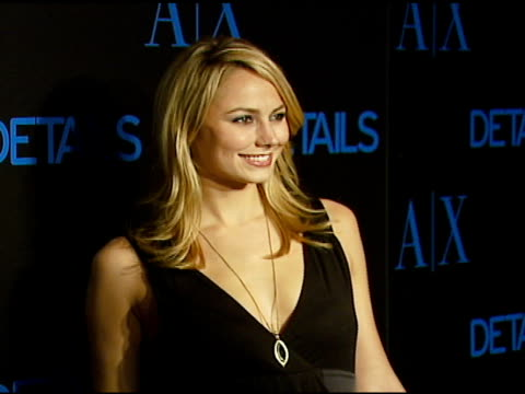 Stacy Keibler at the Armani Exchange and Details Magazine 'Insider' at Area in West Hollywood California on December 7 2006