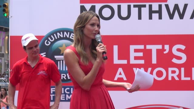 Stacy Keibler at the Colgate for 'A Wish For A Swish' event in New York NY on 6/25/13