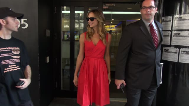 Stacy Keibler at the 'Good Day New York' studio in New York NY on 6/25/13