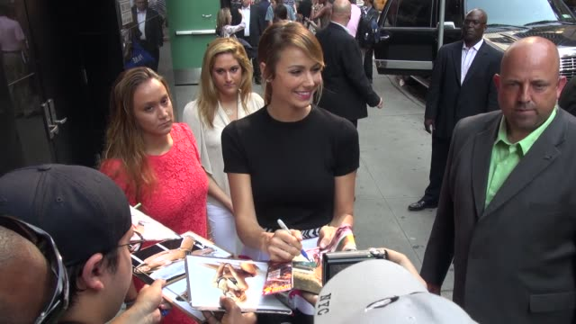 Stacy Keibler at the 'Good Morning America' studio in New York NY on 7/17/13