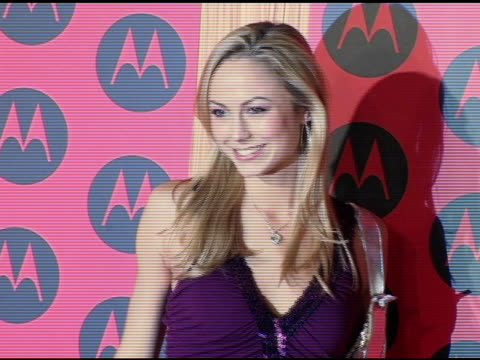 Stacy Keibler at the Motorola 6th Anniversary Holiday Party Arrivals at the Music Box Theater in Hollywood California on December 2 2004