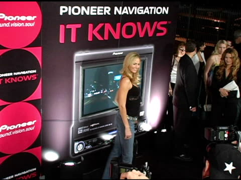 Stacy Keibler at the Pioneer Electronics Launch of their Automotive Navigation System at Montmartre Lounge in Hollywood California on April 21 2005