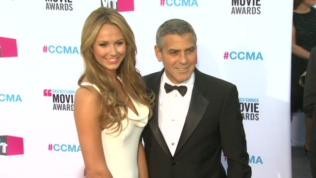 Stacy Keibler George Clooney at 17th Annual Critics' Choice Movie Awards on 1/12/12 in Hollywood CA